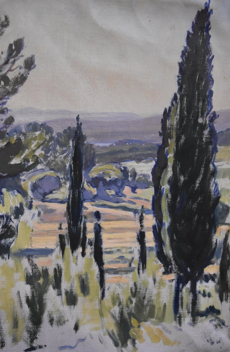Charles-Victor Guilloux (1866-1946)  Landscape in Provence Oil  For Sale 1