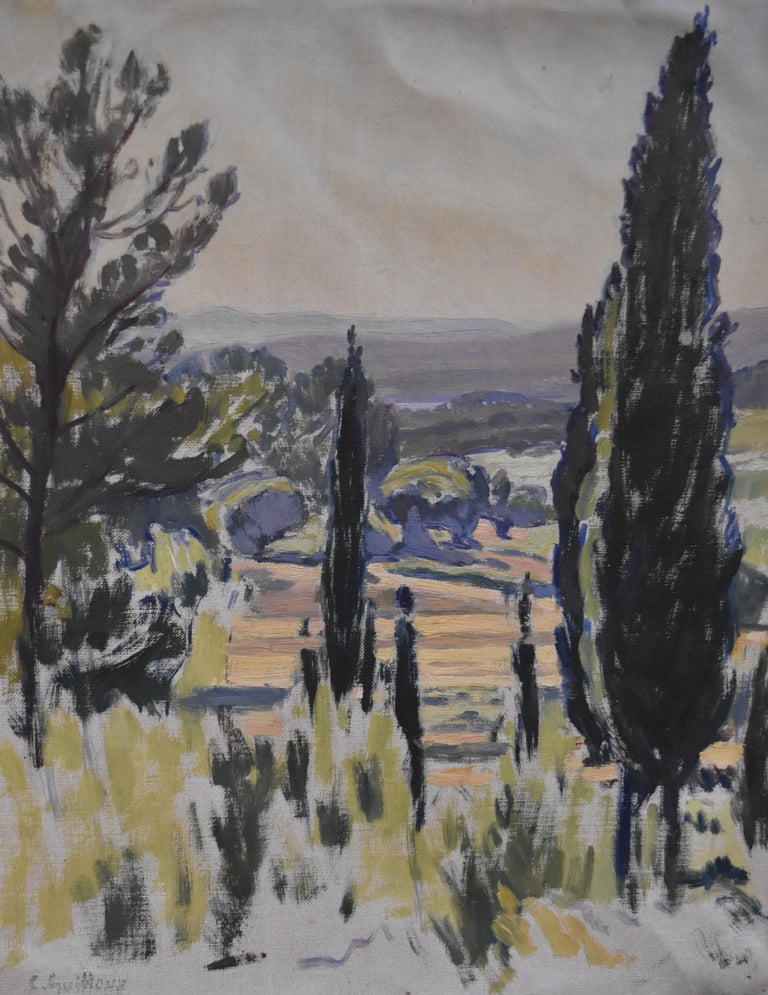 Charles-Victor Guilloux (1866-1946)  Landscape in Provence Oil  - Art by Charles-Victor Guilloux