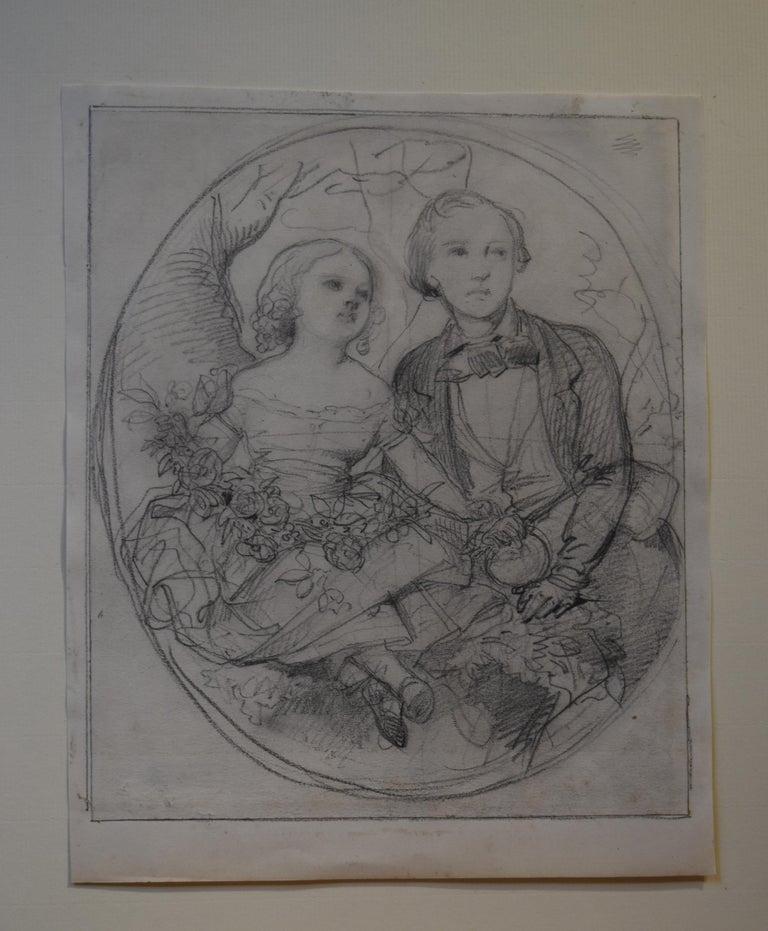 Eugène Devéria (1808-1826) The Children of the painter Drawing - Art by Eugene Deveria