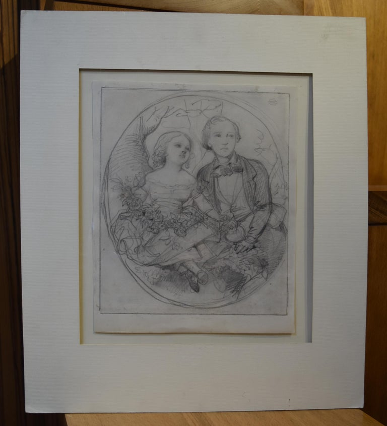 Eugène Devéria (1808-1826) The Children of the painter Drawing - Academic Art by Eugene Deveria