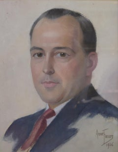 Anne Faure, Portrait of a Gentleman, 1946, Pastel