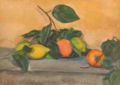 Jean de GAIGNERON (1890 - 1976) Still Life with Lemons and Oranges, oil