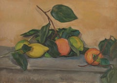 Jean de GAIGNERON (1890 - 1976) Still Life with Lemons and Oranges, oil