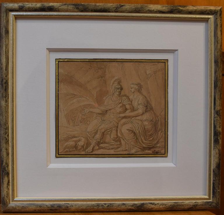 Louis-Félix Delarue (1730-1777) Mars and Venus, drawing - Academic Art by Louis-Félix Delarue
