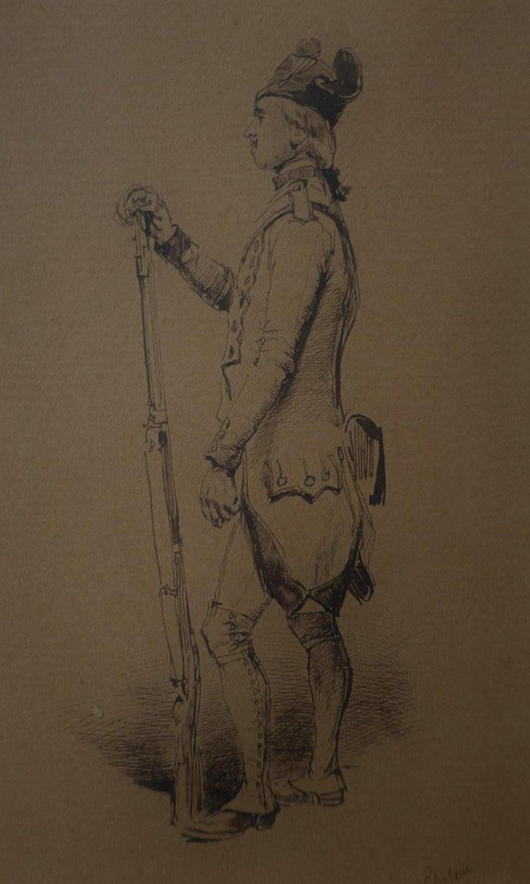 Jean Baptiste Édouard Detaille Figurative Art - Edouard Detaille (1848 1912), An 18th century soldier Original Drawing