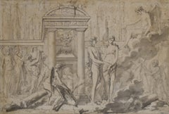 Louis-Félix Delarue (1730-1777) A Mythological scene, drawing