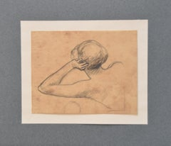 Georges Antoine Rochegrosse (1859-1938) Study of a woman, original drawing