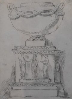 Anicet-Charles-Gabriel Lemonnier (1743-1824) Study of an antique vase, drawing