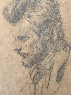Danish School 19th century, Portrait  of a gentleman, original drawing