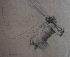 G. A. Rochegrosse (1859-1938) Study for Les Trophées, original drawing