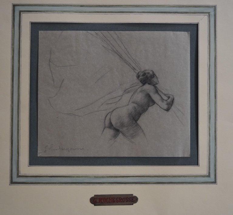 G. A. Rochegrosse (1859-1938) Study for Les Trophées, original drawing - Symbolist Art by Georges Antoine Rochegrosse