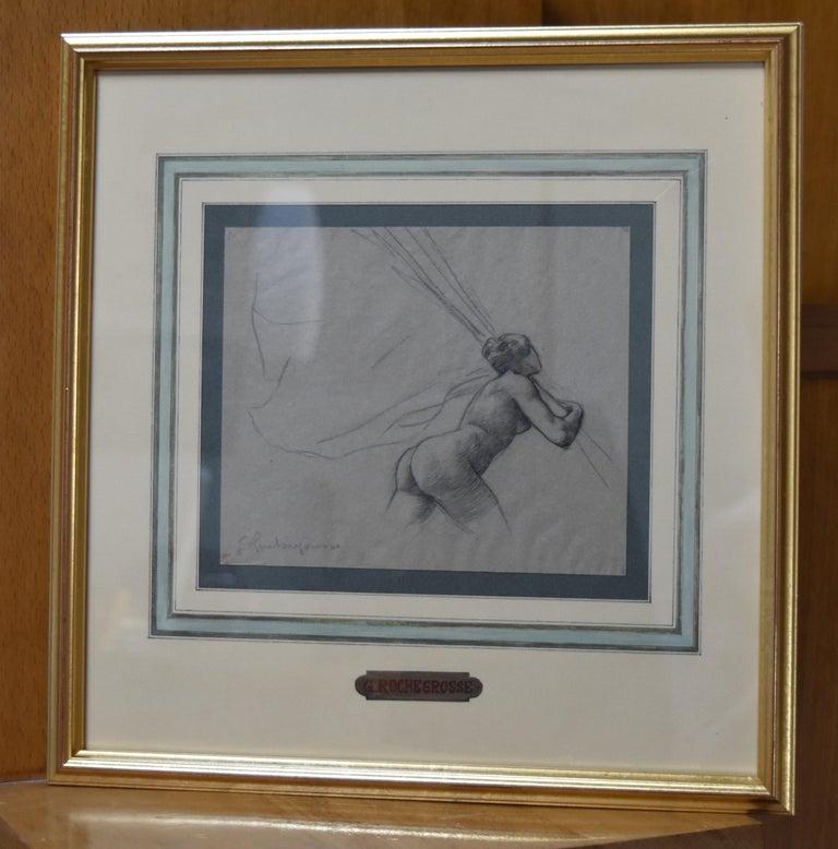 G. A. Rochegrosse (1859-1938) Study for Les Trophées, original drawing - Art by Georges Antoine Rochegrosse