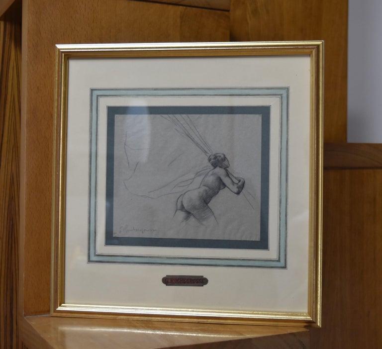 G. A. Rochegrosse (1859-1938) Study for Les Trophées, original drawing For Sale 1