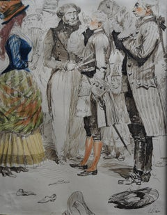Edouard Detaille (1848 1912), A Carnival scene, watercolor signed