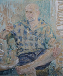 Marguerite De Lottis, Portrait of a bearded man, Oil on  panel