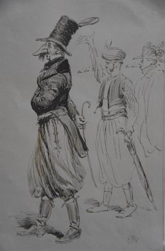 Edouard Detaille (1848 1912), A Carnival character, original signed Drawing