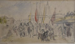 Isidore Pils (1813-1875) An Orientalist scene, signed watercolor