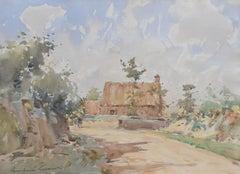 Paul Emile Lecomte (1877-1950)  A landscape, signed watercolor