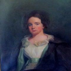 Portrait Priscilla Osborn - early 20th century, old master, portrait painting