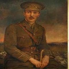 Portrait Army Officer,York & Lancaster Regiment, Watts Frame,portrait painting