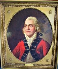19th century English school Portrait military officer Colonel John Cockerell