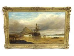 St Michael's Mount,Cornwall - 19th century, old master,oil, Seascape painting