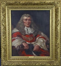 Portrait of Lord Tenterden 19th Century - oil,old master,portrait painting