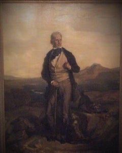 Portrait of Sir Walter Scott - 19th Century Oil, portrait painting,old master