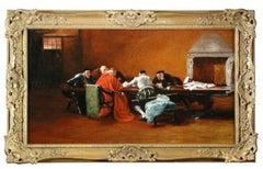 Portrait Of Cardinal Ecclesiastical Scene -19th century,oil, portrait painting