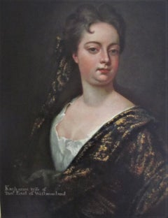 Portrait Of Katharine -17th century, old master, portrait painting,oil, kneller