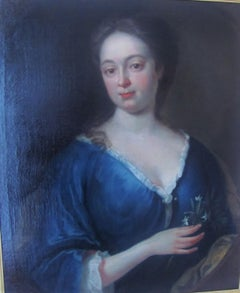 Portrait Of An Aristocratic Lady - 18th century,old master,portrait painting