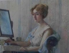 Attractive Female, Watercolour -Early 20th Century, portrait Portrait