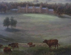 Country House Landscape Scene - 19th century,old master,landscape,country scene