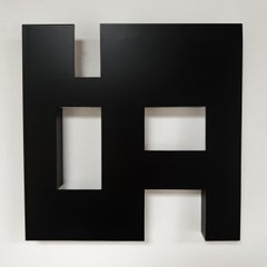 Steel 81 (ii) - contemporary modern geometric sculpture painting relief