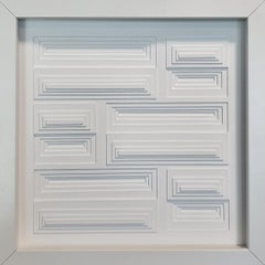 Composition horizontal rectangles 5A - contemporary modern painting relief