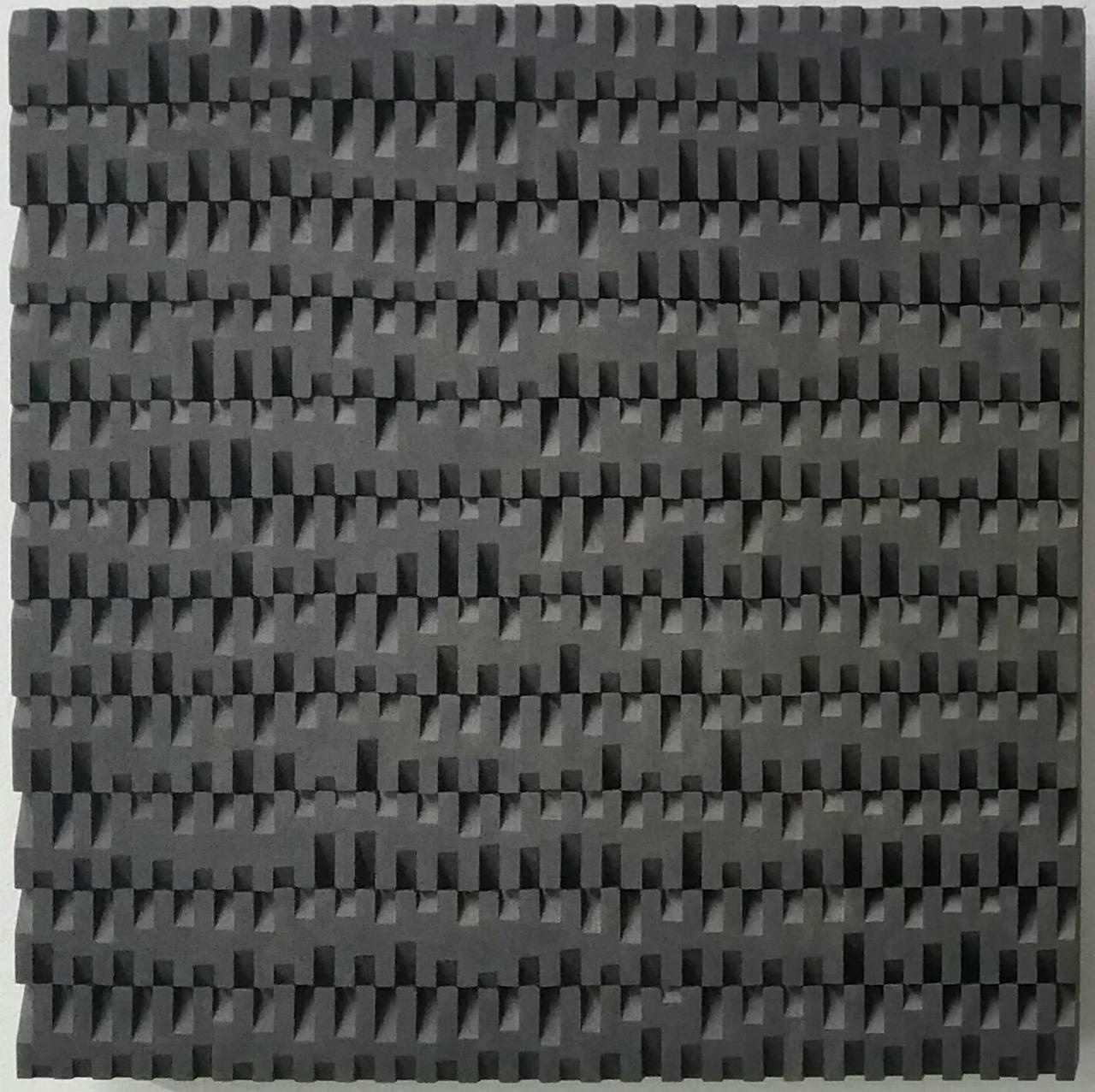 Entrelacements I - contemporary modern geometric sculpture painting relief