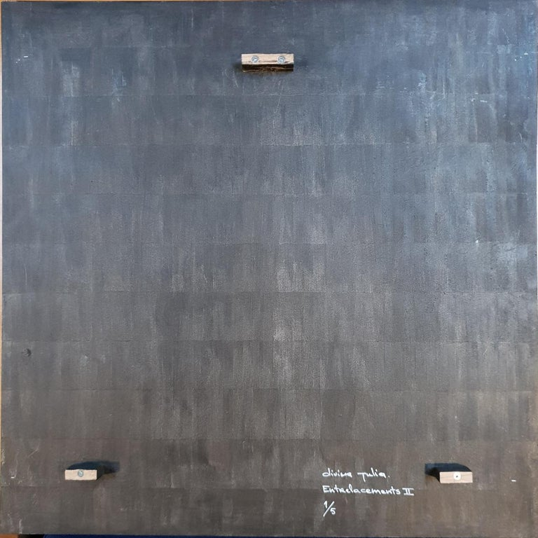 Entrelacements II - contemporary modern geometric sculpture painting relief - Brown Abstract Painting by Olivier Julia