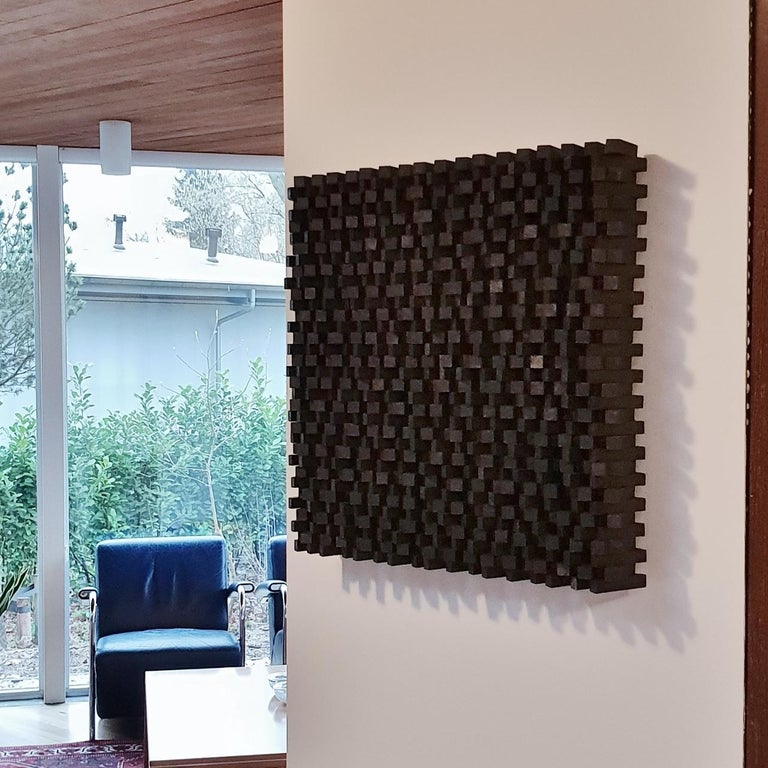 Confusion ritmique II - contemporary modern geometric sculpture painting relief - Painting by Olivier Julia