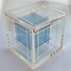 Droste Effect - contemporary modern abstract geometric cube sculpture