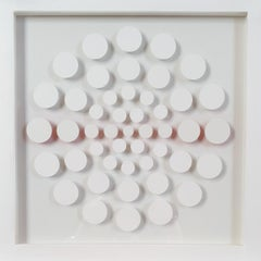 47 Dots VIII - contemporary modern abstract geometric paper relief