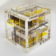Museum Object - contemporary modern abstract geometric cube sculpture
