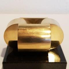 Vierding - contemporary modern abstract geometric miniature brass sculpture