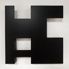 Steel 81 (iii) - contemporary modern geometric sculpture painting relief