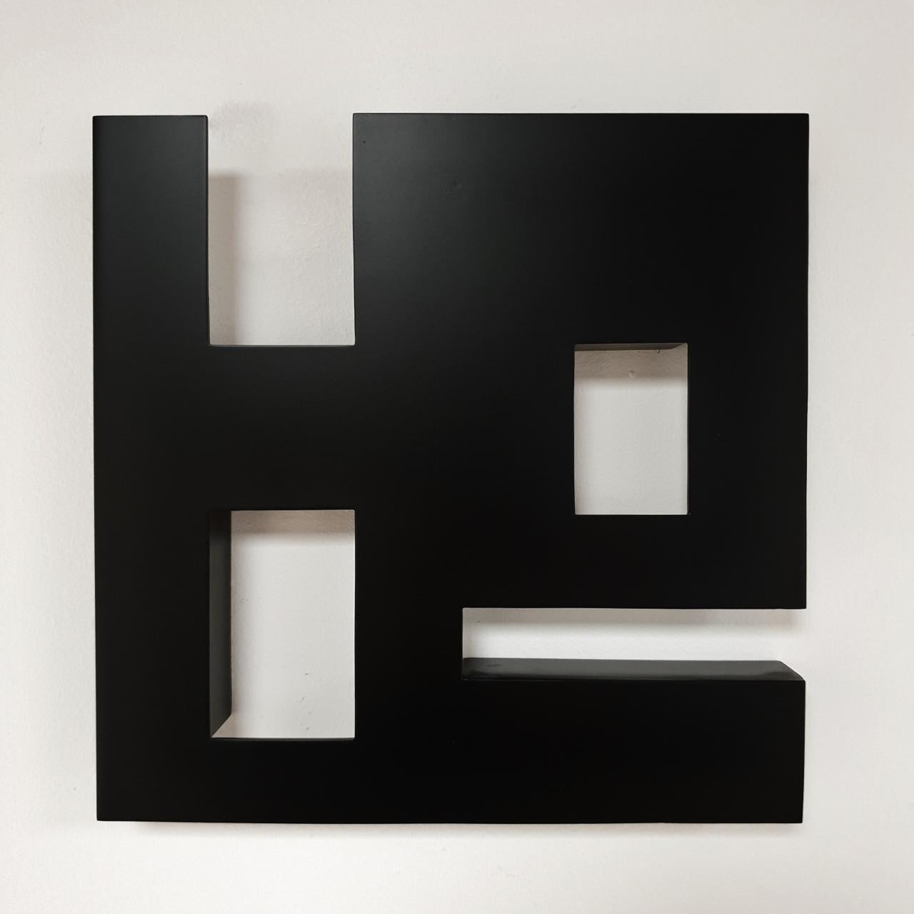 Steel 81 (iv) - contemporary modern geometric sculpture painting relief