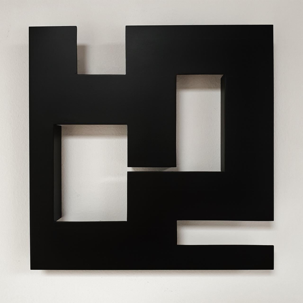 Steel 81 (i) - contemporary modern geometric sculpture painting relief