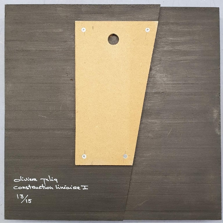 Construction lineaire - contemporary modern geometric sculpture painting relief For Sale 3