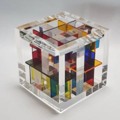 Homage to Rietveld - contemporary modern abstract geometric cube sculpture