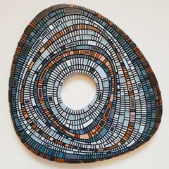 Masterplan #149 - contemporary modern geometric sculpture painting relief