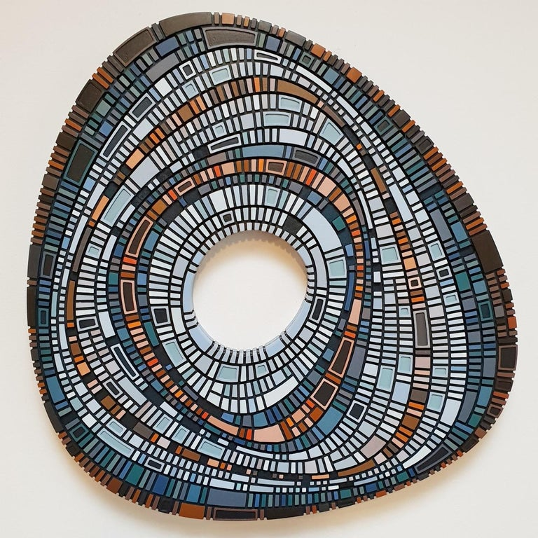 Vaughn Horsman Abstract Painting - Masterplan #149 - contemporary modern geometric sculpture painting relief