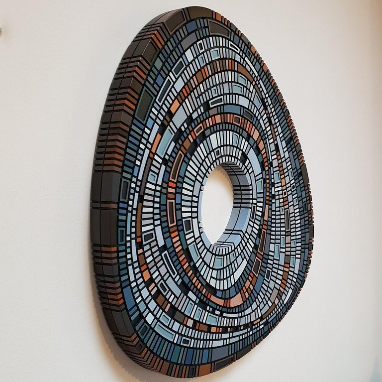 Masterplan #149 - contemporary modern geometric sculpture painting relief - Contemporary Painting by Vaughn Horsman